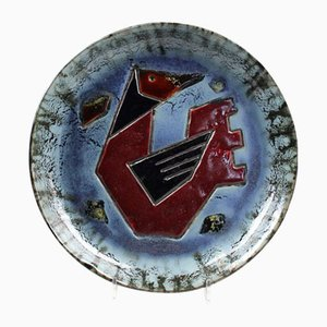 Abstract Bird Wall Plate by Joop Rietveld, 1965