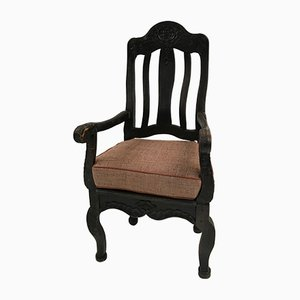 Antique Swedish Chair with Cushion, 1790s