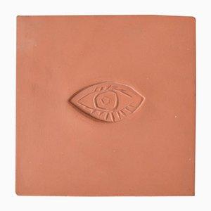 Céramique Ovale à l'Oeil par Pablo Picasso pour Madoura, 1970s