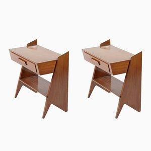 Tables de Chevet Mid-Century, Italie, 1950s, Set de 2