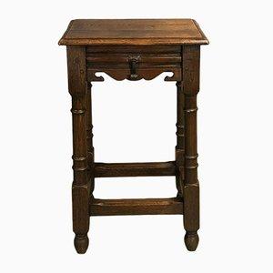Vintage Oak Side Table, 1950s