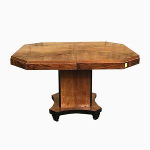 Art Deco Walnut Table, 1930s