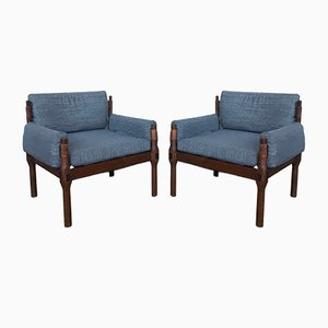 Scandinavian Teak Lounge Chairs, 1960s, Set of 2