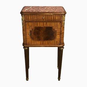 Antiker Nachttisch aus Mahagoni & Kirschholz
