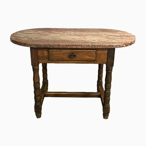 Werktisch aus Eiche & Granit, 1950er