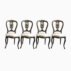 Sillas francesas del siglo XIX. Juego de 4