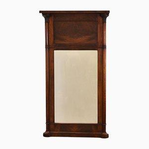 Specchio antico in mogano
