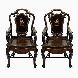 19th Century Anglo Chinese Armchairs, 1830, Set of 2