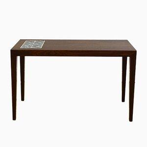 Table Basse en Palissandre à Carreaux par Severin Hansen pour Haslev, 1970s