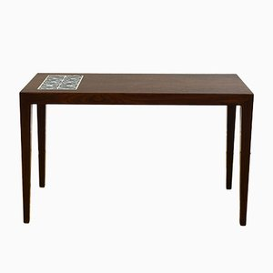 Tiled Rosewood Coffee Table by Severin Hansen for Haslev, 1970s