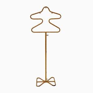 Gold lackierter Kleiderständer aus Metall von Mathieu Mategot, 1950er