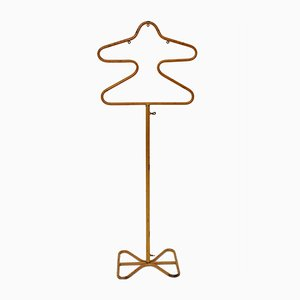 Gold Lacquered Metal Clothing Rack by Mathieu Mategot, 1950s