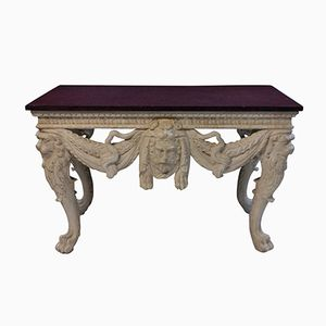 Large Antique Console Table with Porphyry Top