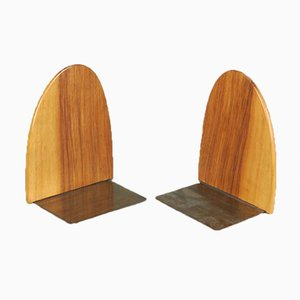 Teak Bookends, 1950s, Set of 2