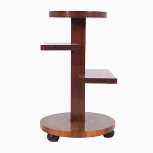 Art Deco Walnut and Rosewood Side Table, 1920s