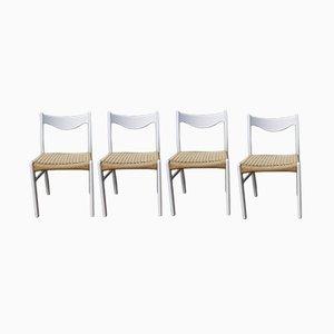 Esszimmerstühle mit Sitz aus Papierkordelgeflecht von Peder Kristensen für Glygore, 1960er, 4er Set