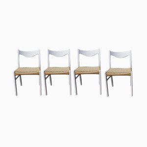 Paper Cord Dining Chairs by Peder Kristensen for Glygore, 1960s, Set of 4