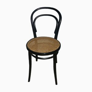 Vintage Viennese Wicker Black Chair, 1960s