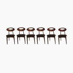 Vintage Stühle von Roger Landault für Sentou, 1960er, 6er Set