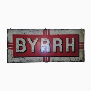 Insegna pubblicitaria BYRRH grande in lattina, anni '60