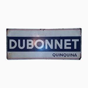 Señal publicitaria Dubonnet grande de estaño de Artemail, 1962