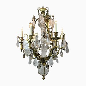 Gilt Bronze & Rock Crystal Chandelier, 1850s