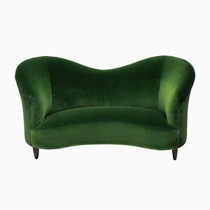 Vintage Velvet Sculptural Sofa by Ico & Luisa Parisi