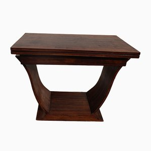 Art Deco Rio Rosewood Extendable Console Table, 1930s