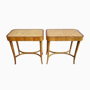 Mesas de costura suecas Mid-Century de Bodafors, años 50. Juego de 2