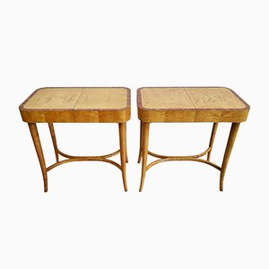 Swedish Mid-Century Sewing Tables from Bodafors, 1950s, Set of 2