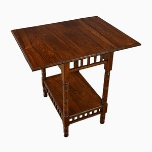 Antique English Edwardian Rosewood Drop Leaf End Table