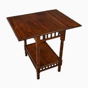 Table d'Appoint à Abattant Édouardienne Antique en Palissandre