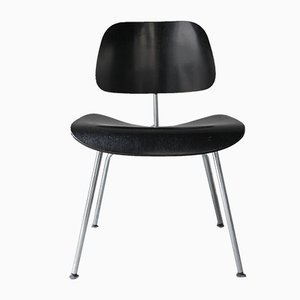 Schwarzer Vintage DCM Stuhl von Charles & Ray Eames fo Vitra, 1980er