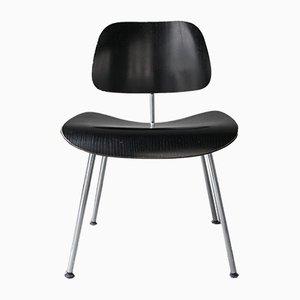 Silla DCM vintage en negro de Charles & Ray Eames para Vitra, años 80