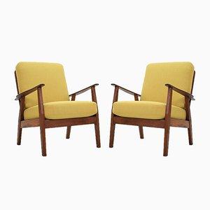 Dänische Mid-Century Lehnstühle, 2er Set