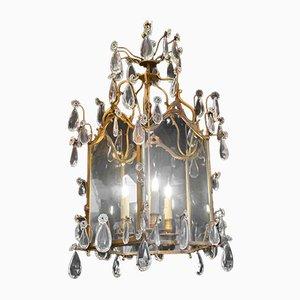 Antike 3-Leuchten Laterne