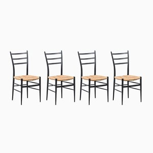 Italian Chiavari Spinetto Dinning Chairs, 1950s, Set of 4