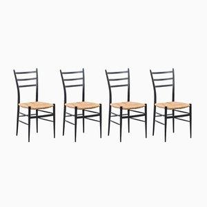 Sedie da pranzo Chiavari Spinetto, Italia, anni '50, set di 4