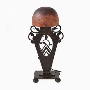 Art Deco Tischlampe von Edgar Brandt für Daum