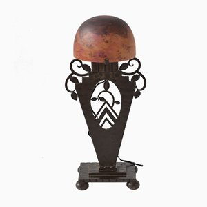 Lampe de Bureau Art Déco par Edgar Brandt pour Daum