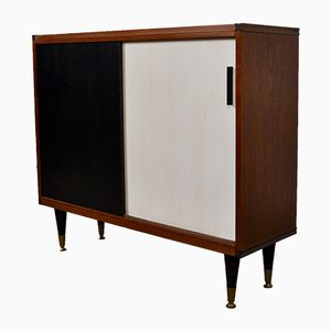 Black & White Wood Sideboard by Cees Braakman for Pastoe, 1960s