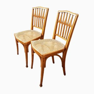 Vintage Chairs by August Siegel for Jacob & Josef Kohn, 1930s, Set of 2