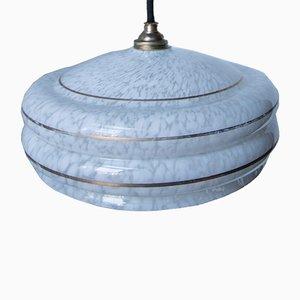 Lampe à Suspension Vintage en Opaline de Cristallerie de Clichy, 1940s
