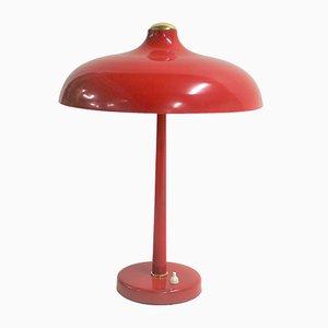 Lampada da scrivania Mid-Century rossa, anni '50