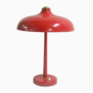 Mid-Century Red Desk Lamp, 1950s