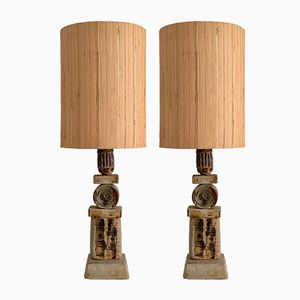 Ceramic Totem Lamps by Bernard Rooke, 1960s, Set of 2