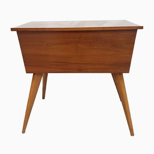 Mid-Century Walnut Sewing Box by Alfred Cox, 1950s