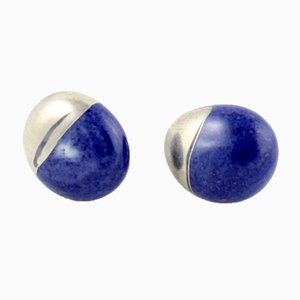 Cobalt and Platinum La Traviata Earrings by Maria Juchnowska, 2015