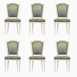 Französische Esszimmerstühle im Louis XVI Stil, 1950er, 6er Set