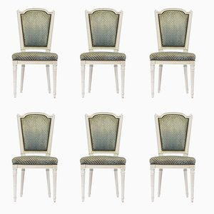 Louis XVI Style French Dining Chairs, 1950s, Set of 6